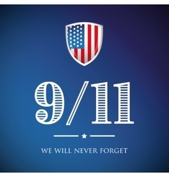 We will never forget - September 11 2001 vector