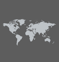World map sign and icon isolated on grey vector