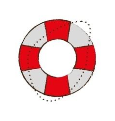 Life buoy safety travel color sketch vector