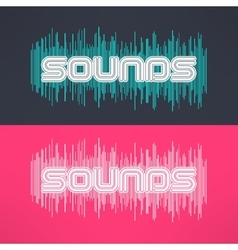 music stylish background with equalizer vector image vector image