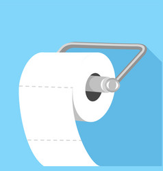 toilet paper icon flat style vector image vector image