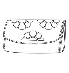 floral wallet vector image vector image
