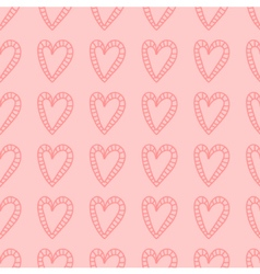 Hand drawn hearts seamless pattern background vector image
