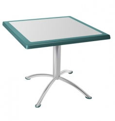metal table vector image