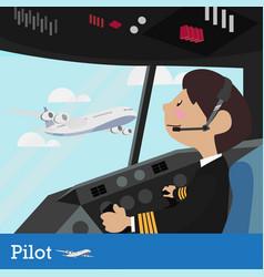 pilot design vector image