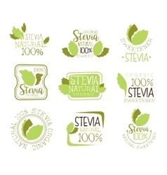 Stevia Natural Food Sweetener Additive And Sugar vector image vector image