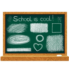 Blackboard with line drawings vector image vector image