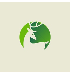Deer Elegant flat icon with long shadow vector image vector image