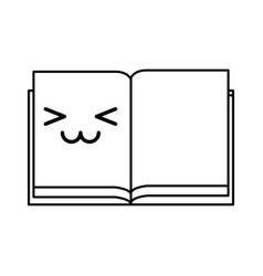 kawaii open notebook vector image