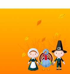 pilgrims background vector image vector image