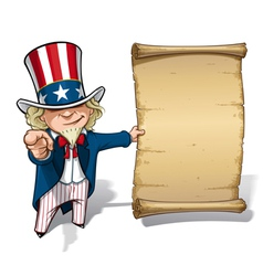 Uncle Sam I Want You Declaration vector image