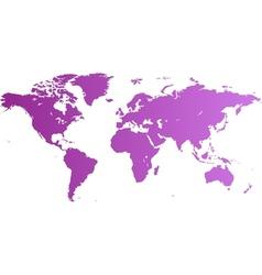 world map violet vector image