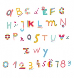 funky alphabet vector image