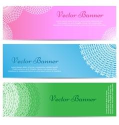 Lacework Ornamental Banners Horizontal Set vector image