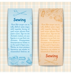 Sewing banners set vector image vector image
