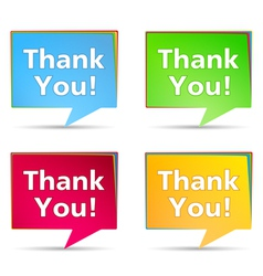 Speech Bubbles with Thank You words vector image vector image