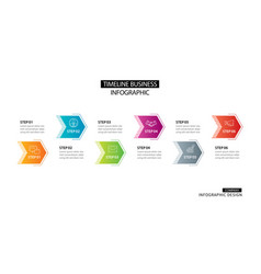6 arrow infographic with abstract template vector image