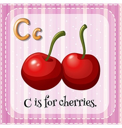 A letter C for cherries vector
