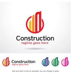 Abstract circle construction logo template design vector