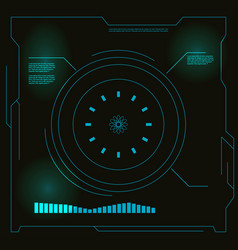 Abstract hud elements vector