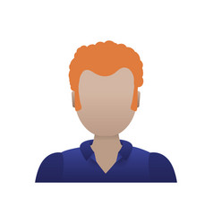 adult male avatar young faceless vector image