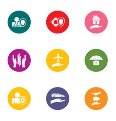 Advocacy icons set flat style vector