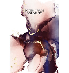 alcohol ink contrast colorful fluid art vector image