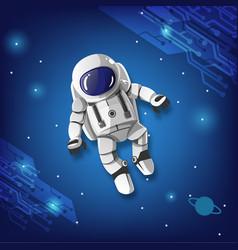 Astronaut boy vector