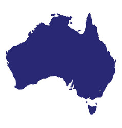 australia silhouette vector image
