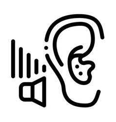 bad hearing icon outline vector image