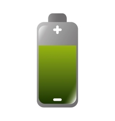 Battery green charge vector