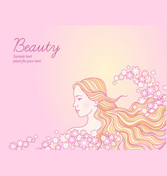 beauty salon background vector image