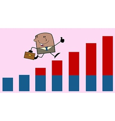 Businessman on graph vector