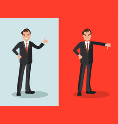 Businessman with approval and disapproval vector