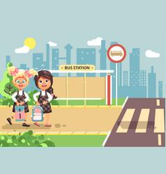 Cartoon characters children vector