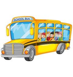 Children and school bus vector image