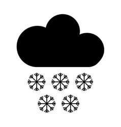 Cloud with snowflakes climate sign isolated icon vector