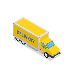 commercial delivery truck isometric 3d icon vector image