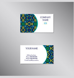 creative business card with absract ornament vector image
