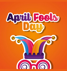 creative card greeting april fools day celebration vector image