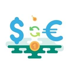 Dollar Euro Currency Exchange vector image vector image