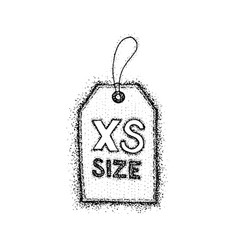 Dotwork extra small size label vector