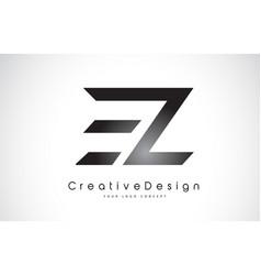 Ez e z letter logo design creative icon modern vector