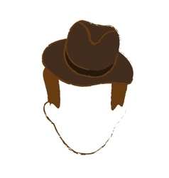 faceless man icon image vector image