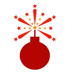 Fireworks detonator flat icon vector
