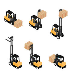 forklifts reliable heavy loader truck vector image