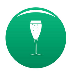 Full glass icon green vector