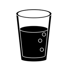 glass cup juice nature pictogram vector image