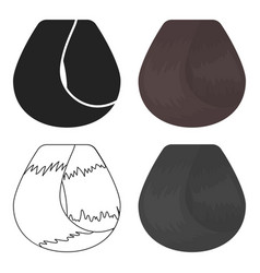 Hair lock icon in cartoon style isolated on white vector