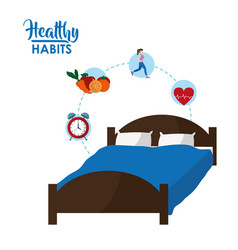 Healthy habits concept vector